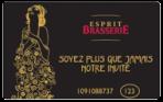 Carte Esprit Brasserie